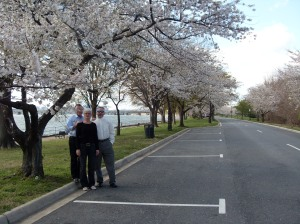 Erwin, Uli, and Bradley with Cherry Blossoms