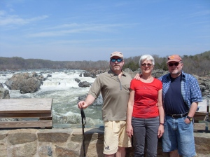 Bradley, Erwin, and Uli at Great Falls