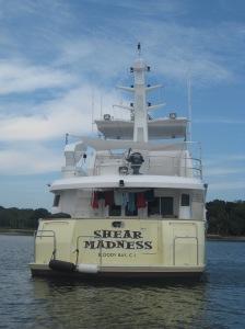 Shear Madness at anchor