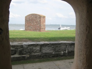 Tender waits at Ft. Sumter