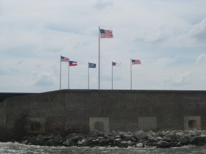 View of Ft. Sumter leaving Charleston