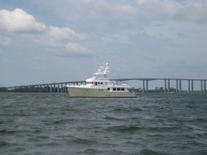 Anchored in the Wando River in Charleston