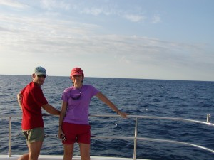 John and Leanne enjoy calm seas after the hurricanes