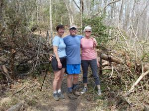 Kathy, Bradley, and Uli hiking in Difficult Run Park