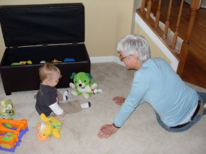 Uli plays with Tyler