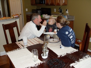 Grandpa feeds Tyler