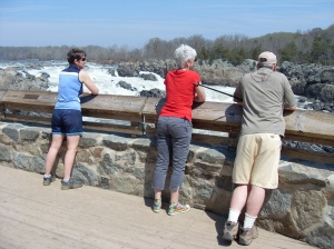 Bradley, Uli, and Kathy at Great Falls