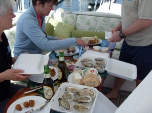 Oysters on the Flybridge