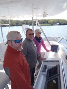 Bradley, Erwin and Uli on flybridge