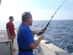 Bradley reels in a tuna