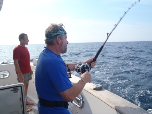 Bradley reels in a tuna