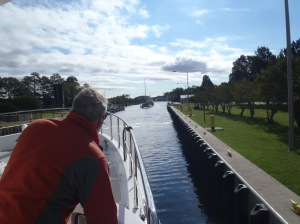 Passing through the lock