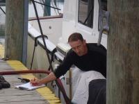 02 John keeps track of how muc is added as we alternate filling betweentanks