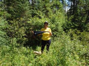 2013-08 Bushwhacking in Baddeck, Nova Scotia