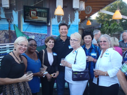 Sue Strickland, Marnel Williams, Aileen Bloom, Jeff Gray (chick magnet), Joyce Bennett, Dorothy Mei, Clare Leary