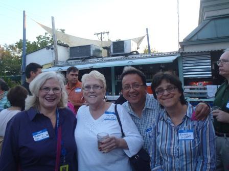 Roberta Wells, Joyce Bennett, Mario and Michelle Lucero