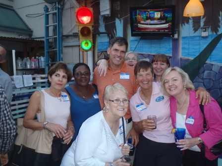 Kevin Reardon with Aileen Bloom, Marnel Williams, Joyce Bennett, Roberta Wells, Kathy, Pam Stevenson Lilley, Deb Kallas