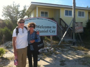 Alan and Kathleen arrive at Staniel Cay