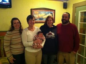 Robin, Kathy with Sophia, Vicky and Mark