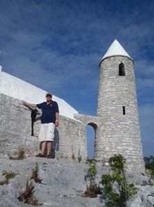 Taylor at The Hermitage, the highest point in the Bahamas