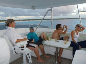 Sundowners on the flybridge