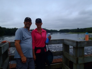 Sid and Stef at the Roseway River in Shelburne