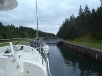 Waiting in the lock at St. PeterCanal