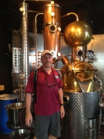 Bradley at the Ironworks Distillery inLunenburg