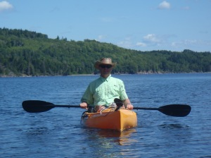Atle in his kayak on a beautiful day