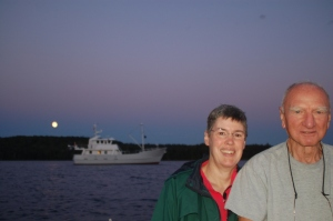 Tish and Rob with Kittiwake
