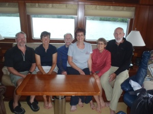 Bradley, Kathy, Kurt, Sally, Kris, and Mark on Shear Madness