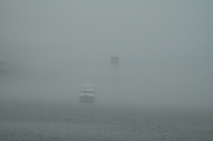 Summer Star arriving at Halifax in the fog