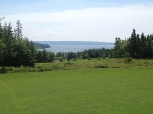 View from Bell Bay Golf Course in Baddeck