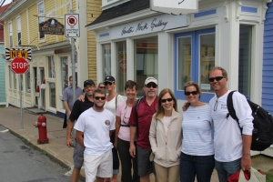 Sid, Tyler, Stef, Kathy, Bradley, Rebecca, Kristina, and Atlee in Lunenberg (photo by Randy)