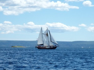 The Ameoba - Baddeck's local sailing boat