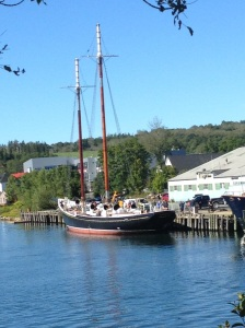 Bluenosee II is floating again after a lengthy re-fit