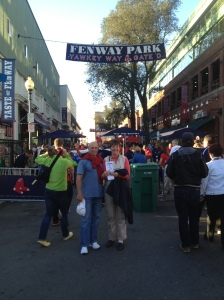 Kathy and Dennis outside Fenway Park
