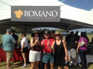 Kathy with Joe and Dawn at the Riverfest wine festival