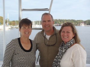 Kathy with Stacy and Vicky in Solomons