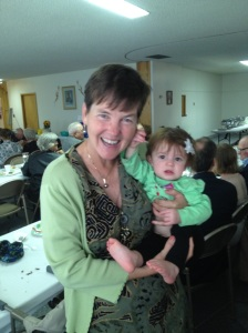 Kathy with great-niece Sophia