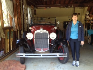 Kathy with Bud's 1931 Ford