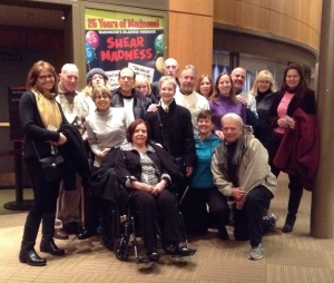The Rosenberg family and friends attend Shear Madness at the Kennedy Center