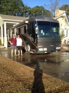 Gary and Bradley with the Land Yacht