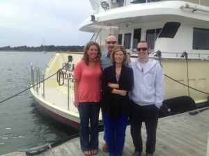 New deckhand Gary on right with parents and sister