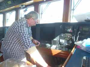 Steve installing new horn control which allows horn to be used as fog signal