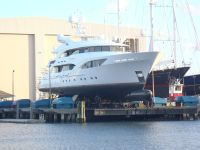 Hauling a Superyacht at Thunderbolt Marine