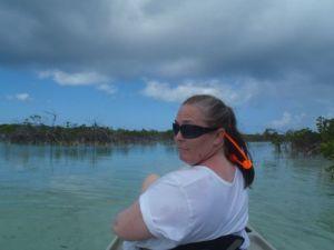 April in the kayak