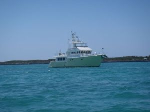 Shear Madness anchored at Royal Island