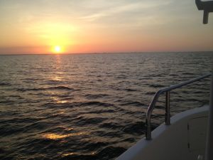 Another beautiful sunset at sea en route to Chesapeake Bay
