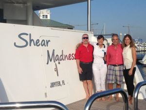 "Bradley and Kathy with Bruce and Rhonda on the ""other"" Shear Madness"